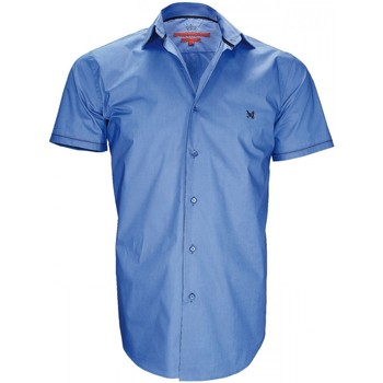 Vêtements Homme Chemises manches courtes Andrew Mc Allister chemisette mode new pacifique bleu Bleu