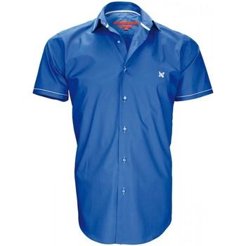 Vêtements Homme Chemises manches courtes Andrew Mc Allister chemisette mode pacific bleu Bleu