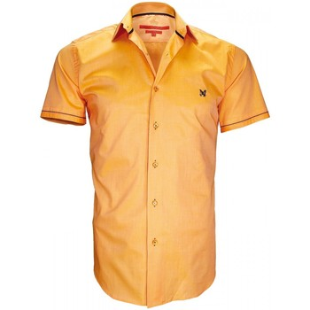 Vêtements Homme Chemises manches courtes Andrew Mac Allister chemisette mode pacific orange Orange