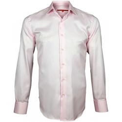Vêtements Homme Chemises manches longues Andrew Mac Allister chemise tissu armure upscale rose Rose