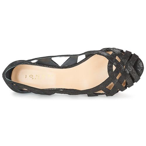 Nu Sandales Deray Jonak Et pieds Noir Femme EH2IWD9