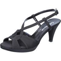 Chaussures Femme Sandales et Nu-pieds Calpierre sandales noir satin BZ739 noir