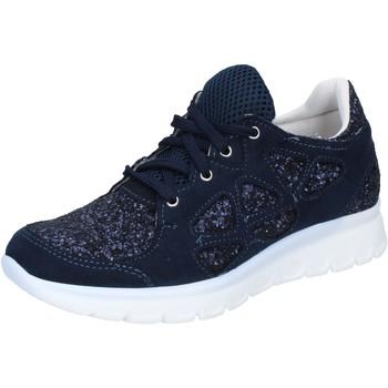 Chaussures Femme Baskets basses Hb Helene chaussures femme  sneakers bleu glitter daim BZ758 bleu