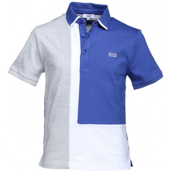 Vêtements Garçon Polos manches courtes HUGO Polo Hugo Boss Cadet - Ref. J25C06-861 Bleu