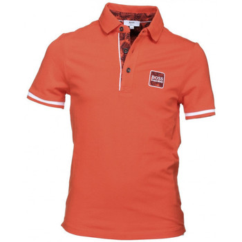 Vêtements Garçon Polos manches courtes HUGO Polo Hugo Boss Junior - Ref. J25C38-412J Orange