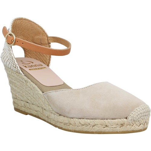 Kanna 4087 velours Femme Taupe Taupe - Chaussures Espadrilles Femme