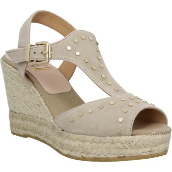 Chaussures Femme Espadrilles Kanna 8126 velours Femme Taupe Taupe