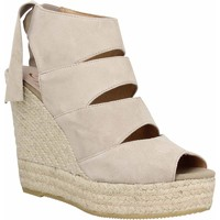 Chaussures Femme Espadrilles Kanna 8141 velours Femme Taupe Taupe