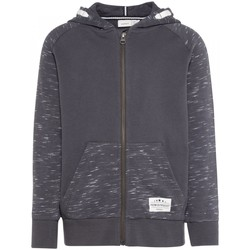 Vêtements Enfant Sweats Name It Kids Sweat Zippe Sohi Hood Asphalt Jr - Gris