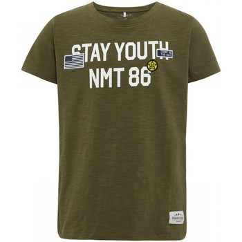 Vêtements Enfant T-shirts manches courtes Name It Kids Tee Shirt Stya Ivy Green Jr - Vert