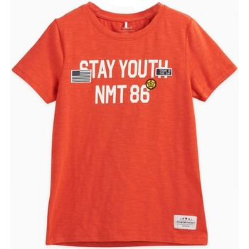 Vêtements Enfant T-shirts manches courtes Name It Kids Tee Shirt Stya Paprika Jr - Orange