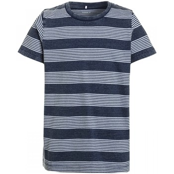 Vêtements Enfant T-shirts manches courtes Name It Kids Tee Shirt Karson Raye Indigo Jr - Bleu