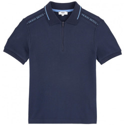 Vêtements Garçon Polos manches courtes HUGO Polo Hugo Boss Cadet - Ref. J25C44-849 Bleu
