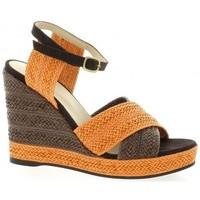 Chaussures Femme Sandales et Nu-pieds Vidi Studio Nu pieds toile Orange