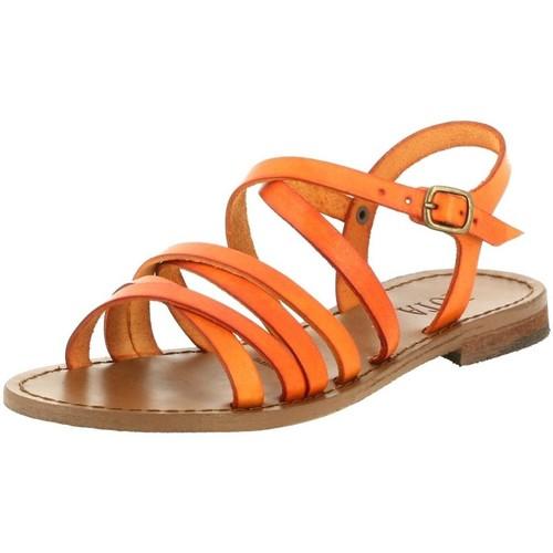 Iota 539 orange - Chaussures Sandale Femme