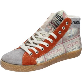 Chaussures Femme Baskets montantes Springa chaussures homme  sneakers gris textile daim BZ782 gris