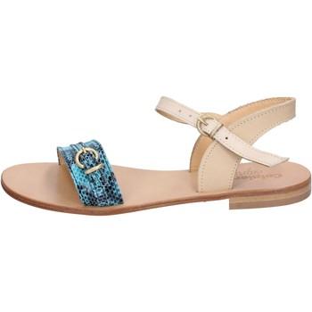 Chaussures Femme Sandales et Nu-pieds Calpierre sandales vert cuir marron BZ837 multicolor