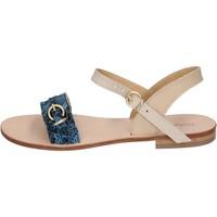 Chaussures Femme Sandales et Nu-pieds Calpierre sandales bleu cuir BZ838 bleu