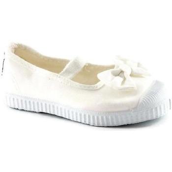 Chaussures Enfant Ballerines / babies Cienta ballerine en tissu élastique touffue blanc chaussures fille Bianco
