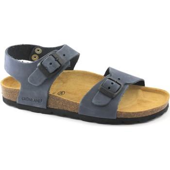 Chaussures Enfant Mules Grunland Grünland LÉGER SB0205 32/41 sandales bébé Blue boucles en cuir B Blu