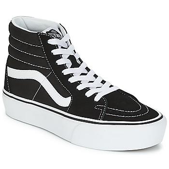 Chaussures Femme Baskets montantes Vans SK8-HI PLATFORM 2.1 Noir / Blanc