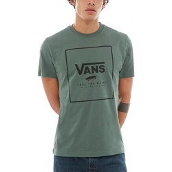 Vêtements Homme T-shirts manches courtes Vans T-shirt  M Print Box - Dark Forest / Black Vert