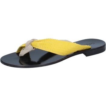 Chaussures Femme Sandales et Nu-pieds Calpierre sandales beige daim jaune cuir BZ869 beige