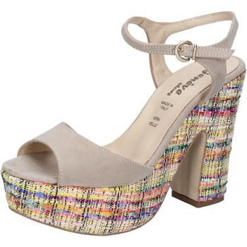 Chaussures Femme Sandales et Nu-pieds Geneve Shoes chaussures femme  sandales beige daim BZ890 beige