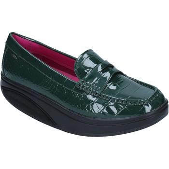 Chaussures Femme Mocassins Mbt mocassins vert cuir verni dynamic BZ906 vert