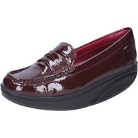 Chaussures Femme Mocassins Mbt mocassins bordeaux cuir verni dynamic BZ917 rouge