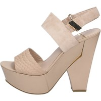 Chaussures Femme Sandales et Nu-pieds Marciano chaussures femme  sandales beige daim cuir BZ430 beige