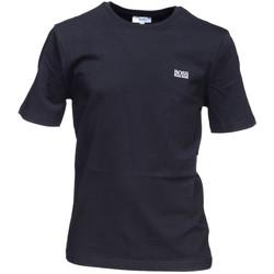 Vêtements Garçon T-shirts manches courtes HUGO Tee-shirt Hugo Boss Cadet - Ref. J25P01-09B Noir