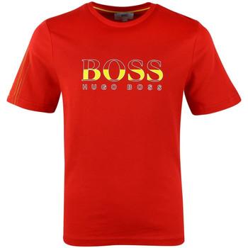 Vêtements Garçon T-shirts manches courtes HUGO Tee-shirt Hugo Boss Cadet - Ref. J25C53-Z58 Rouge