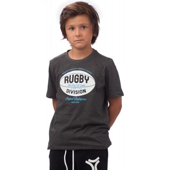 Vêtements Enfant T-shirts manches courtes Rugby Division Tee-shirt - rugby - Manchester - Noir