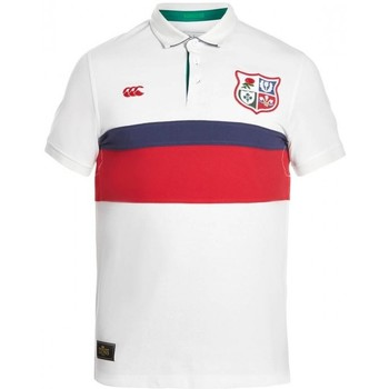 Vêtements Polos manches courtes Canterbury Polo rugby - adulte - Les Lions - Blanc