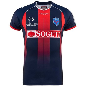 Vêtements T-shirts manches courtes Kappa Maillot rugby FC Grenoble Rugby (FCG), replica domicile 2017/201 Rouge