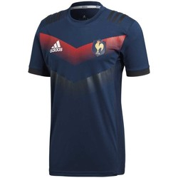Vêtements T-shirts manches courtes adidas Originals Tee-shirt rugby France performance 2017/2018 adulte - Bleu