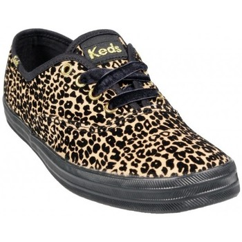 Keds Marque Baskets  Flock Animal Tan