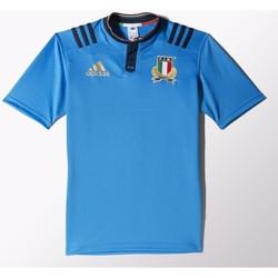 Vêtements T-shirts manches courtes adidas Originals Maillot rugby - Italie 2016 - Bleu