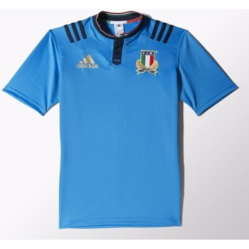 meet bee47 e9abc Vêtements T-shirts manches courtes adidas Originals Maillot rugby - Italie  2016 - Bleu