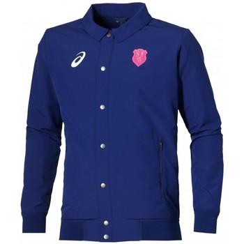 Vêtements Vestes de survêtement Asics Veste rugby - Stade Français veste zippée de présentation - Bleu