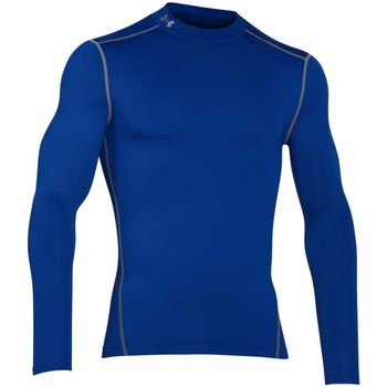 Vêtements T-shirts manches longues Under Armour Baselayer de compression rugby Bleu