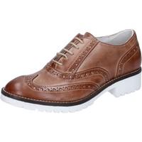 Chaussures Femme Richelieu Crown élégantes marron cuir BZ932 marron
