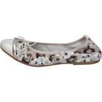 Chaussures Femme Ballerines / babies Crown ballerines beige cuir verni textile BZ939 beige