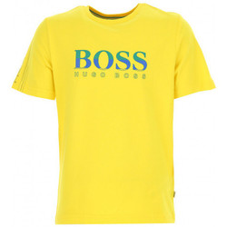 Vêtements Garçon T-shirts manches courtes HUGO Tee-shirt Hugo Boss Cadet - Ref. J25C53-ZA5 Jaune