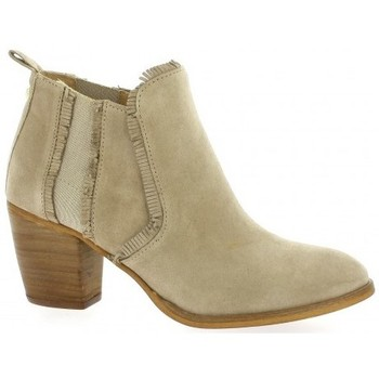 Chaussures Femme Boots Alpe Boots cuir velours Beige