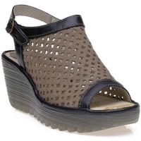 Chaussures Femme Polo Ralph Lauren Fly London 0718602 Kaki/Noir