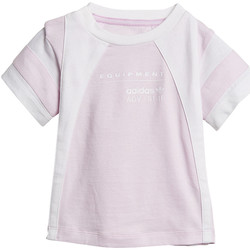 Vêtements Fille T-shirts manches courtes adidas Originals T-shirt EQT Blanc
