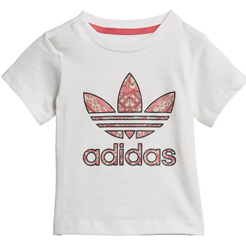 Vêtements Fille T-shirts manches courtes adidas Originals T-shirt GRPHC Midseason Blanc / Multicolore