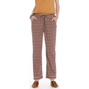 Vêtements Femme Pantalons Maison Scotch PANTALON LEGER AVEC IMPRIME BORDEAUX/MULTICOLOR